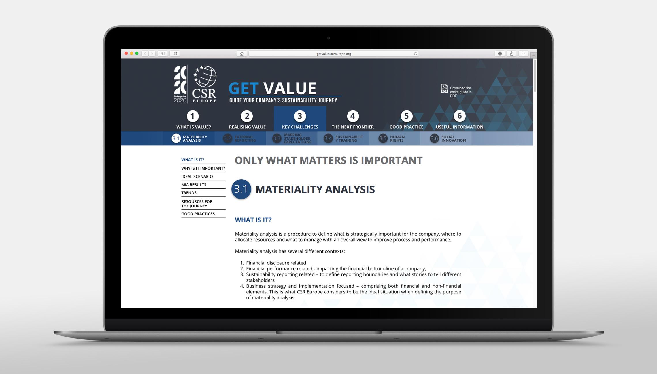 web: Sustainability management website  - image 2