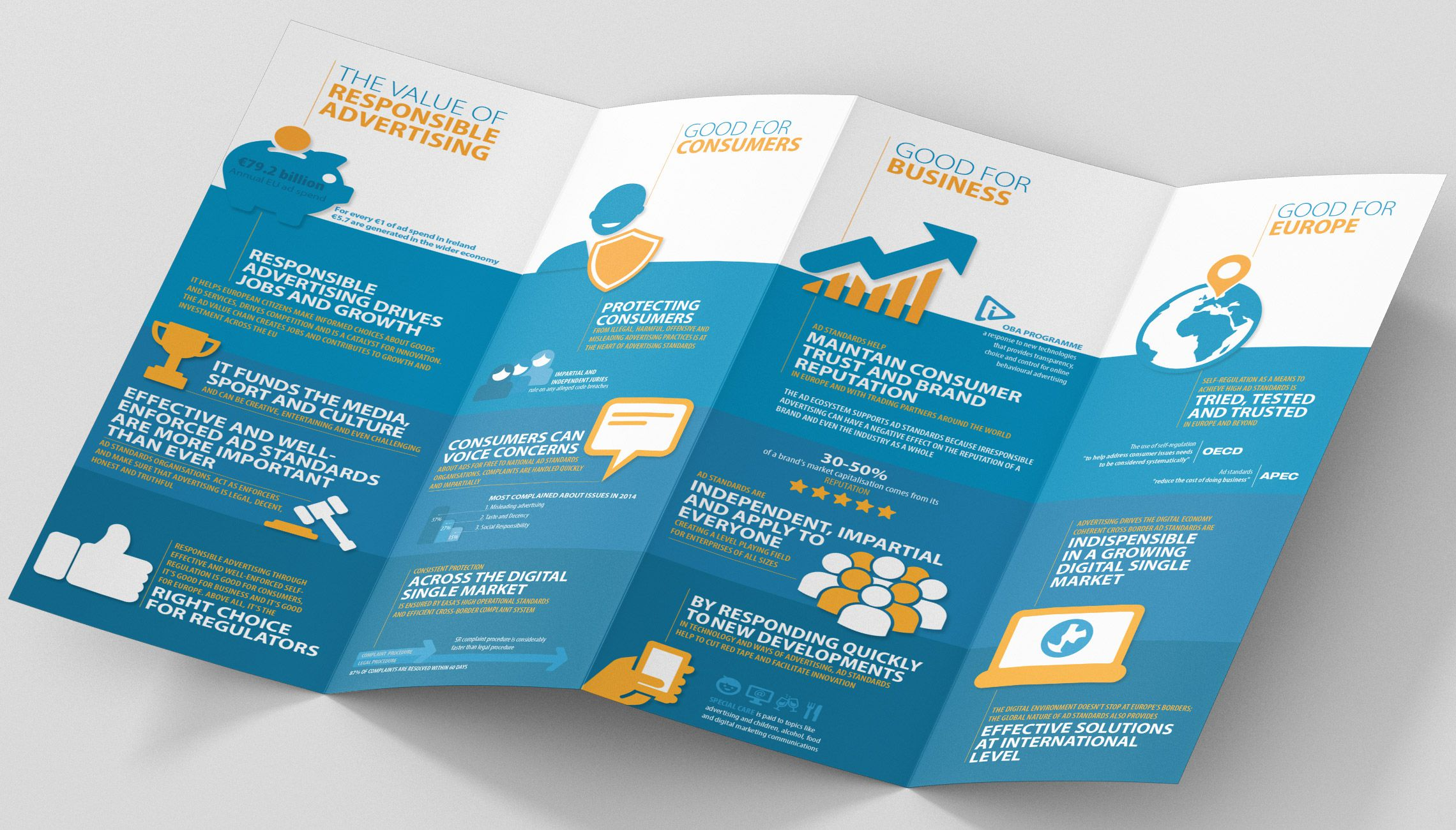 infographics: Leaflet with infographics - image 1