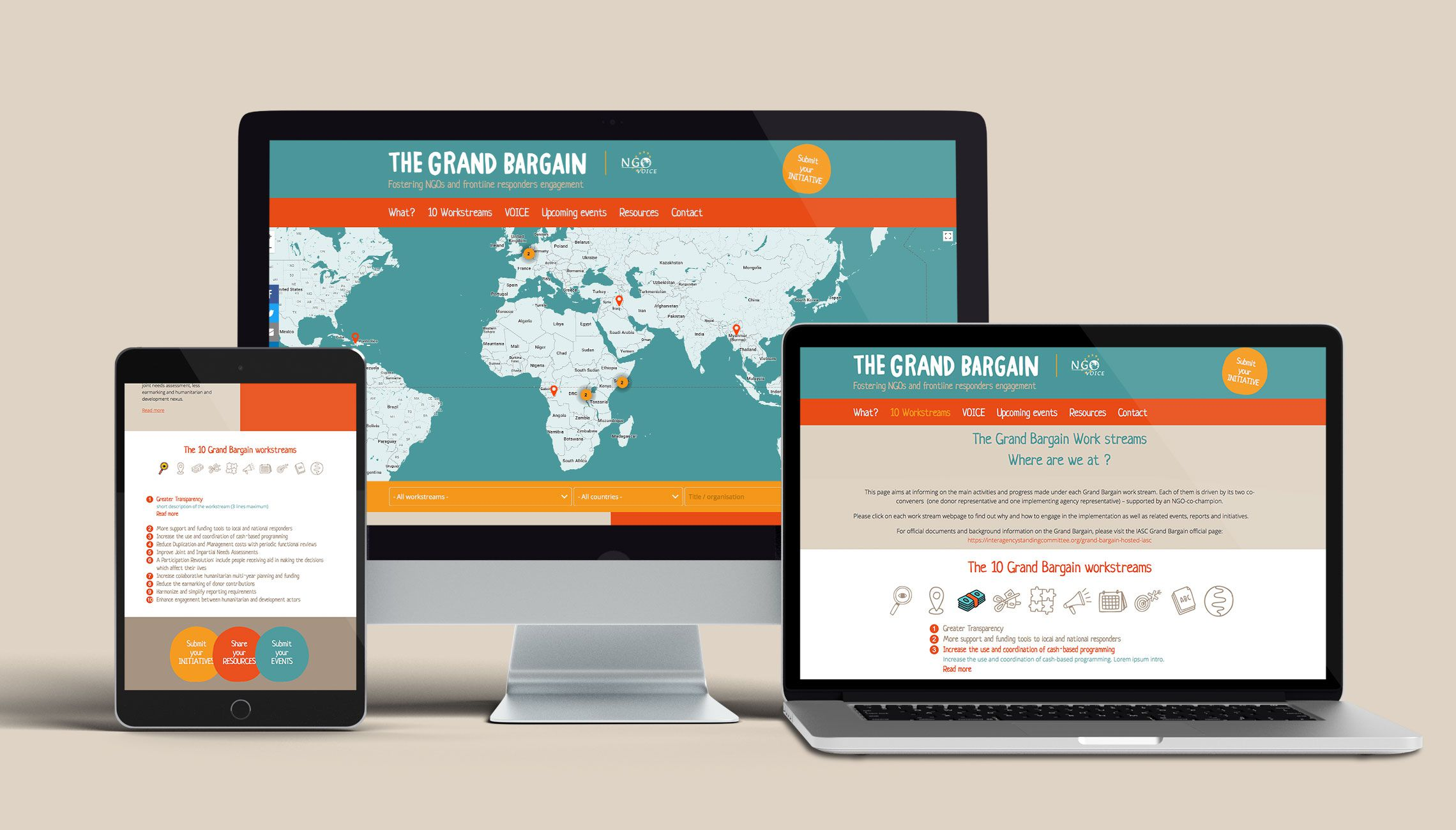 web: Design of the 'Grand Bargain' website  - image 1